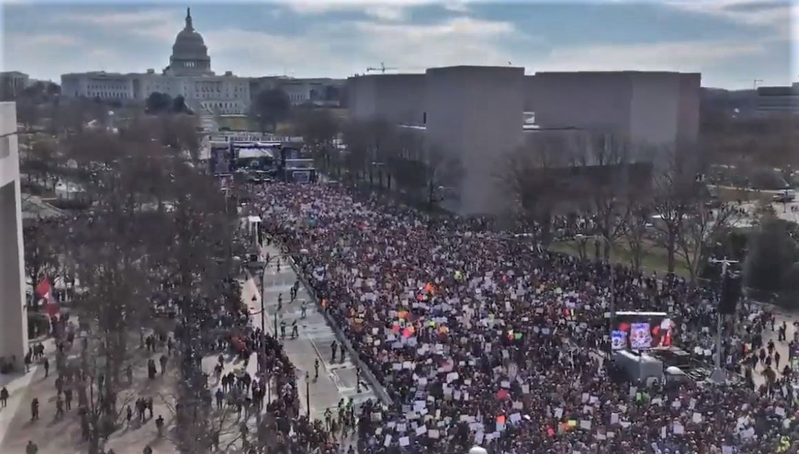 March for Our Lives Draws Larger Crowd Than Trump's Inauguration