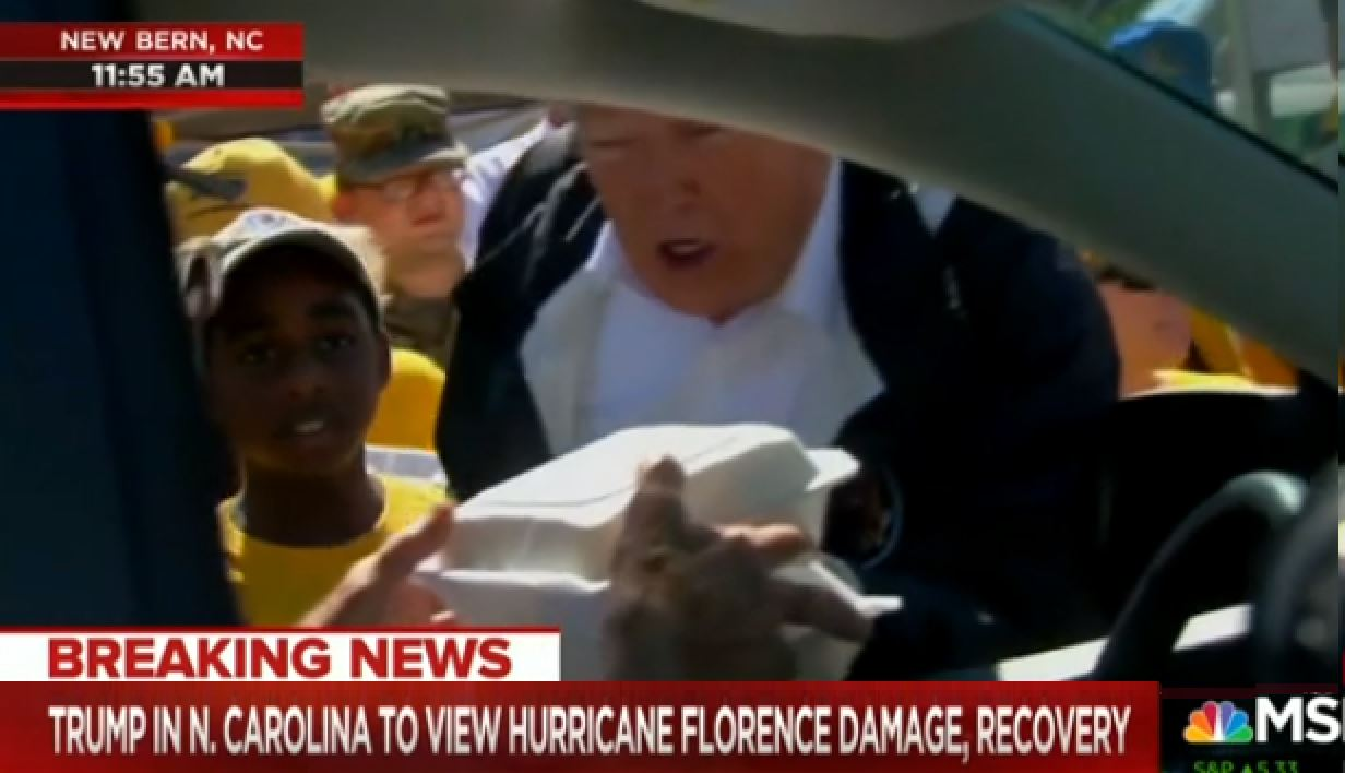 MSNBC Host Reacts To Trump Telling Hurricane Florence Victims To 'Have A Good Time'
