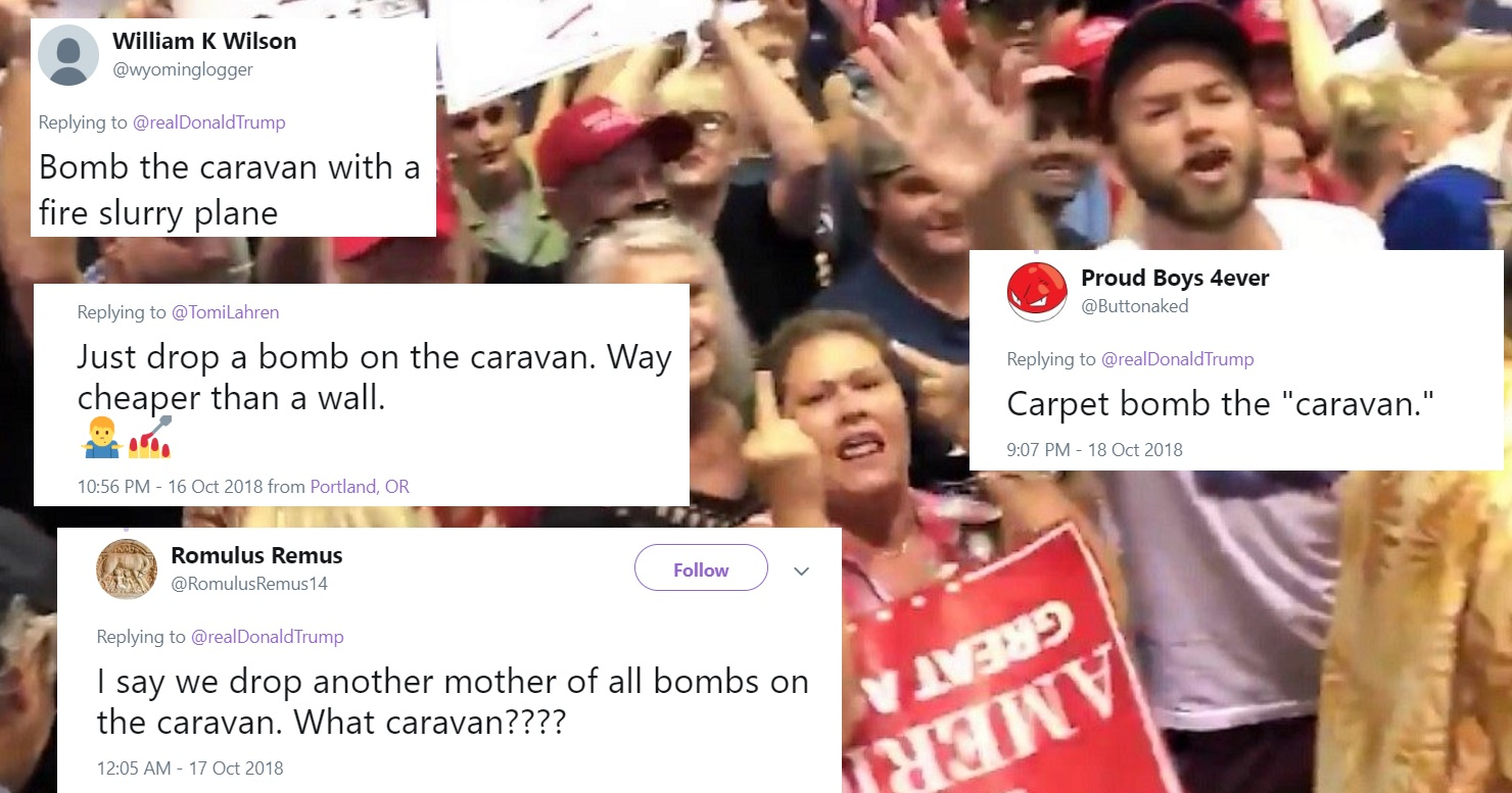 Disturbing Number Of Trump Supporters Calling For Military To Bomb Refugee Caravan Of Parents, Kids
