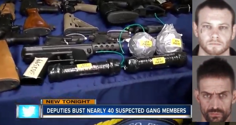 White Supremacist Sting Leads To 39 Arrests, Seizure Of Rocket Launcher, Pipe Bombs, Illegal Firearms In Florida
