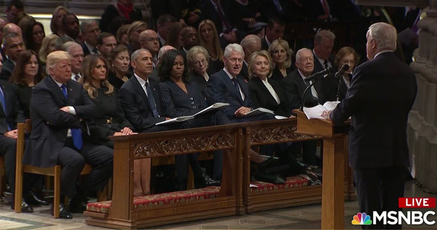 Ex-Canadian PM Appears To Take Subtle Jabs At Trump During Eulogy Praising Bush's 'Leadership'