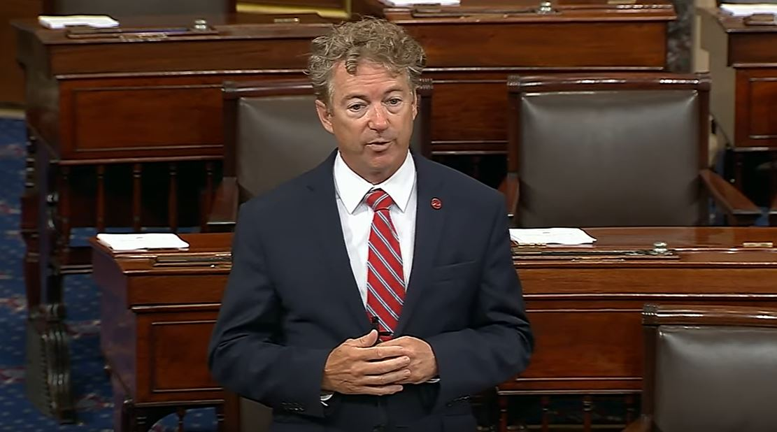 GOP Sen. Rand Paul Worked On A Crossword Puzzle, Paper Airplane During Impeachment Trial